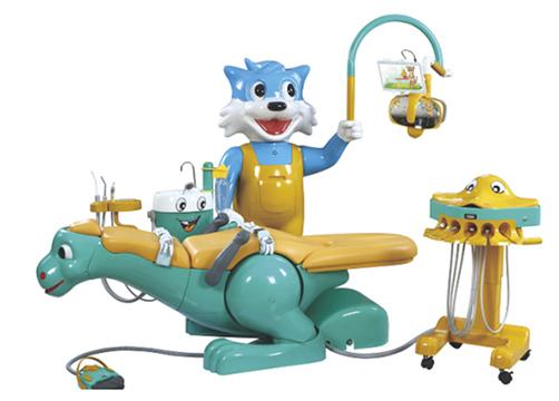 A8000 IB Pediatric Dental Chair (children Dental Unit With Dinosaur Chair  And Smiling Cat Side Box)